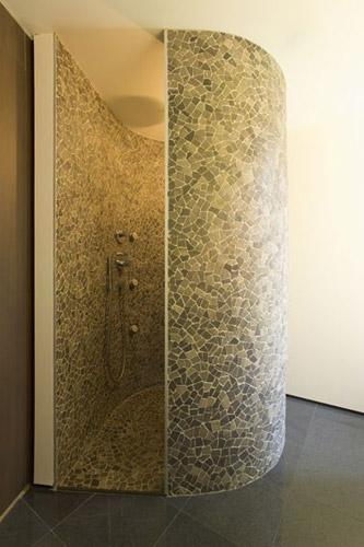 Badkamer Gordijn Rails ~ Venetian Floors natuursteen mozaiek, wand en vloer,milano grijs door