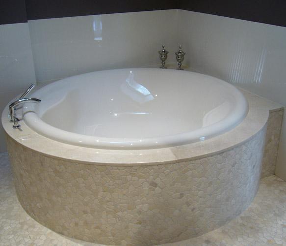 Mozaiek Matjes Badkamer ~   Floors natuursteen mozaie, wit, badkamer, door van Boven den Dungen