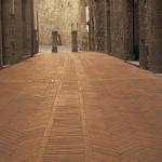 San Gimignano, listelli taglio filo