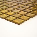 HUH CM 4GO10 glasmozaïek wand goud.