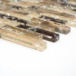 HUH XIC V1355 glas mozaiek natuursteen langwerpig beige bruin