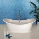 Original Style, glas mozaiek, crystal blauw, badkamer, douche