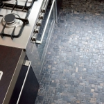 Venetian Floors natuursteen mozaiek, antraciet, keuken