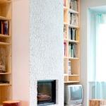 Venetian Floors natuursteen mozaiek, wit, schoorsteen / kachel