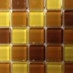 Glasmozaiek kleuren geel en bruin
