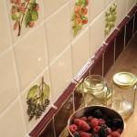 Original Style beschilderde wandtegels in de keuken