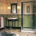 Original Style wandtegels en vloertegels, toegepast in de badkamer.