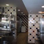 Daltile wandtegels in een bedrijfs kantine / keuken